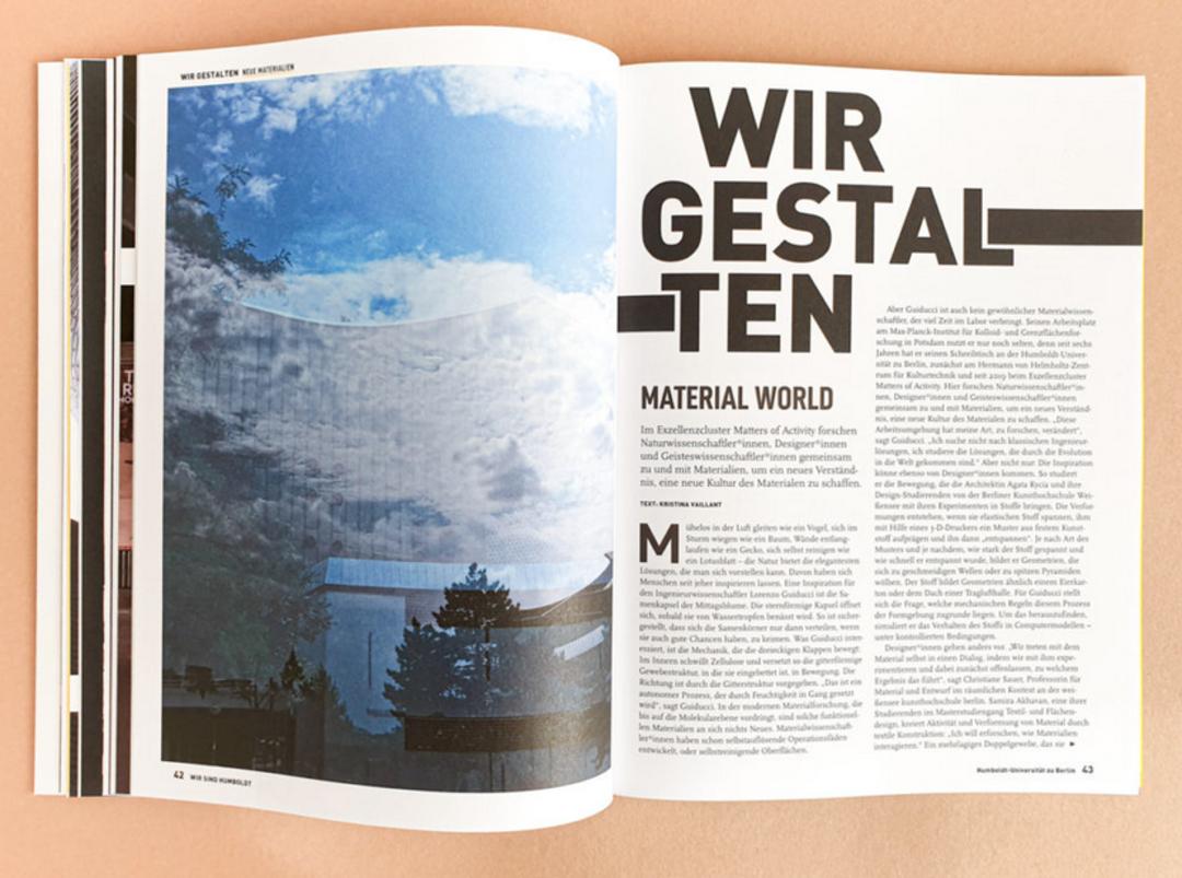 »Wir sind Humboldt«. Image brochure of Humboldt-Universität zu Berlin. Fotos: Matthias Heyde, Grafic Design: Weserloh Media. Copyright: Humboldt-Universität zu Berlin