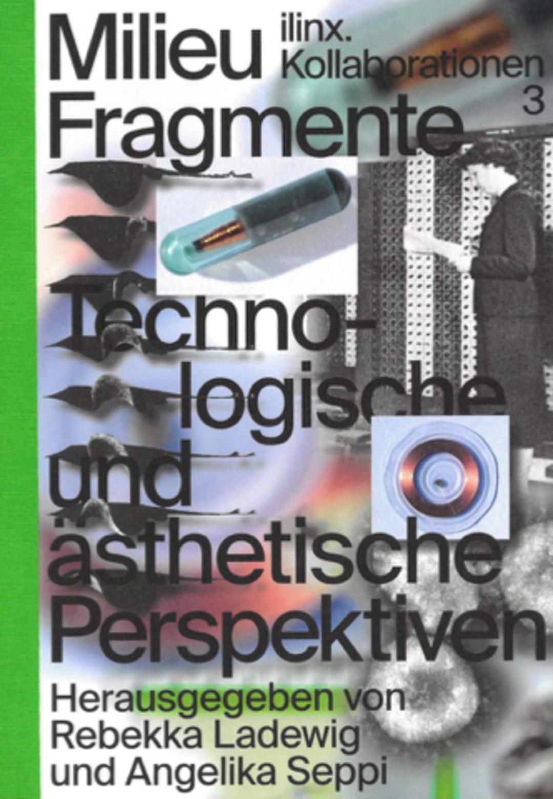 Bookcover »Milieu Fragmente«. Design: Florian Lamm, Sascia Reibel. Copyrigt: Spector Books.