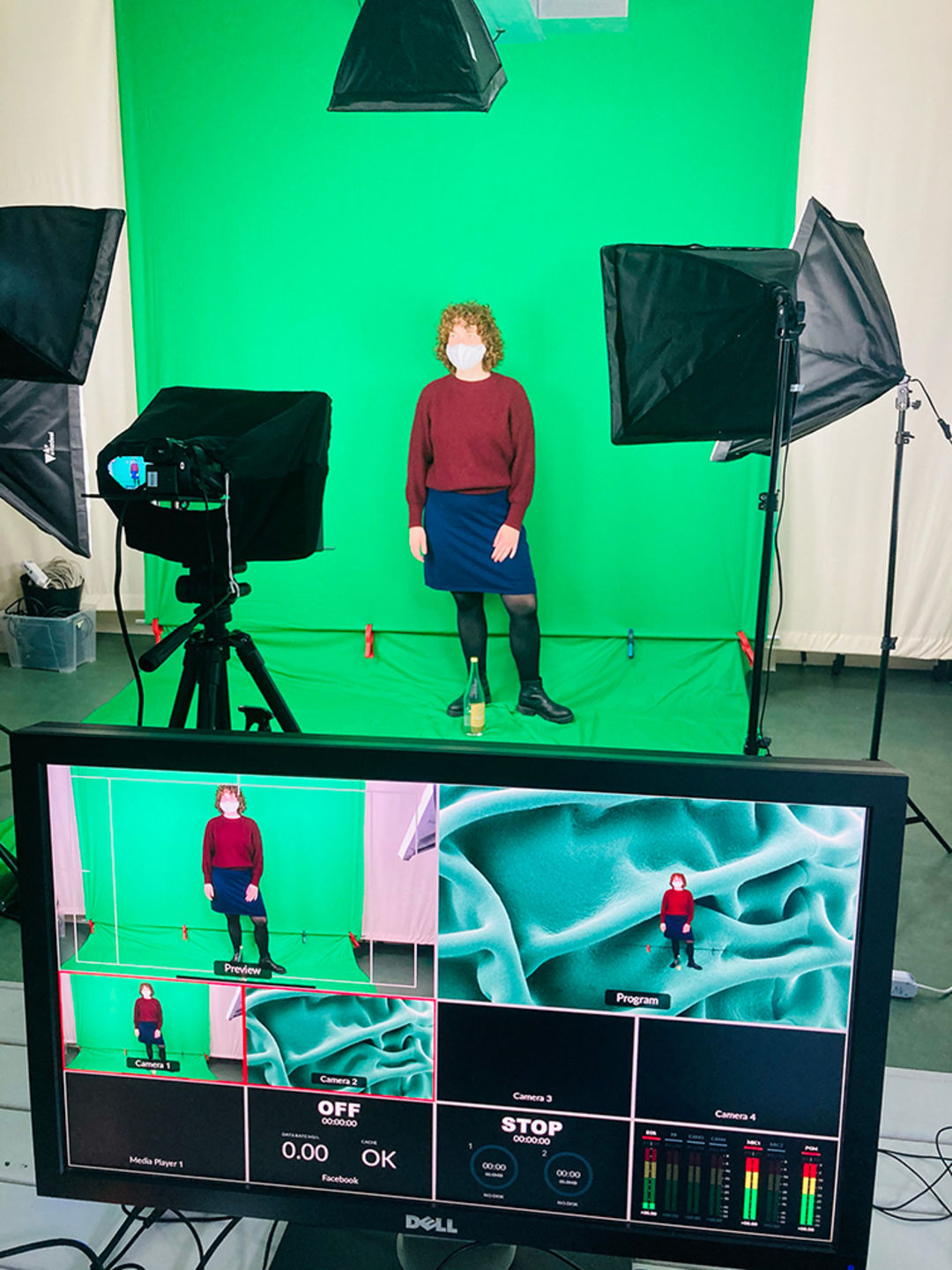 Video production in our green screen studio. Copyright: Matters of Activity