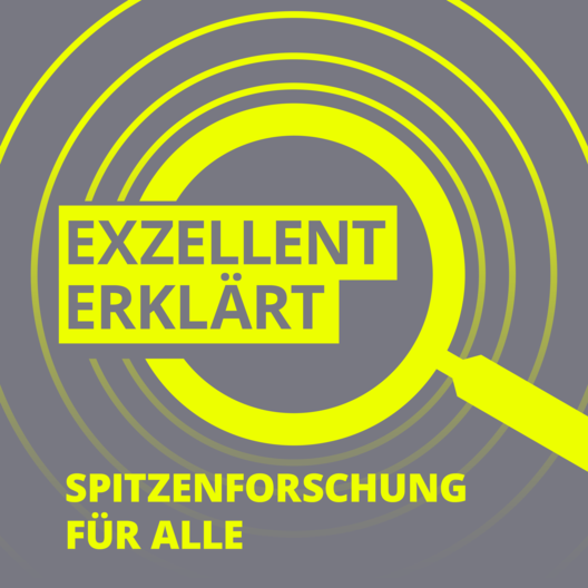 Logo Podcast »Exzellent erklärt – Spitzenforschung für alle«. Copyright: Vera Hiendl
