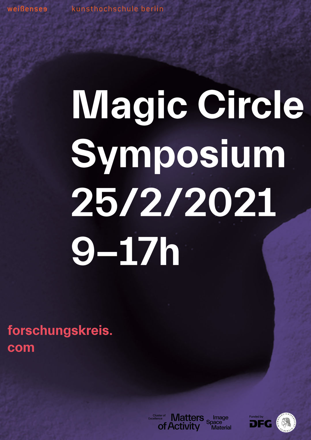 Magic Circle Symposium weissensee school of art and design berlin, »Erosive Modeling«. Copyright: Kristin Dolz.