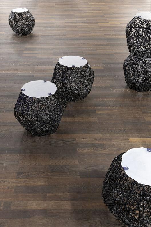 »Stone Web« (Design: Idalene Rapp and Natasha Unger) at the exhibition »After Nature« at Humboldt Lab (Humboldt-Universität zu Berlin). Copyright: Matters of Activity, Humboldt-Universität zu Berlin