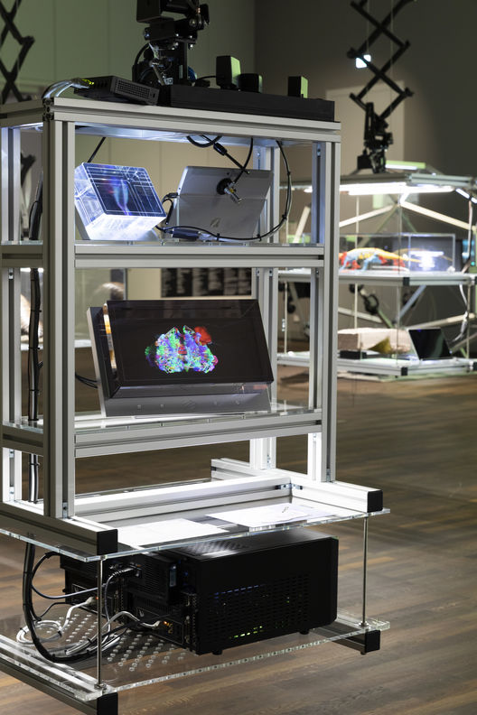 »Adaptive Digital Twin« at the exhibition »After Nature« at Humboldt Lab. opyright: Matters of Activity, Humboldt-Universität zu Berlin