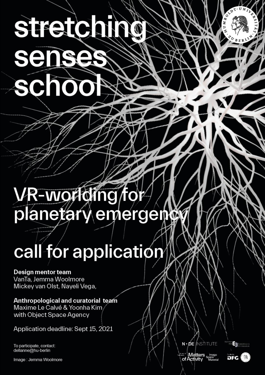 Poster »stretching senses school«, Image: Jemma Woolstone